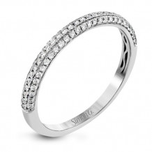 Simon G. 18k White Gold Diamond Wedding Band - MR2737