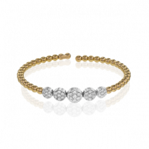 Simon G. 18k Two-Tone Gold Diamond Bangle Bracelet - LB2097