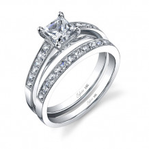 0.32tw Semi-Mount Engagement Ring With 3/4ct Princess Head - sy709