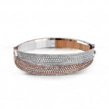Simon G. 18k Two-Tone Gold Diamond Bangle Bracelet - MB1579