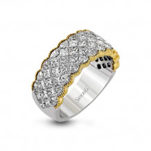 Simon G. 18k Two Tone Gold Diamond Anniversary Band - MR1911