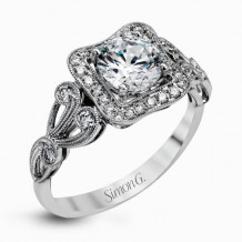 Simon G. 18k White Gold Diamond Engagement Ring - TR549