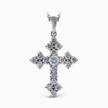 Simon G. 18k White Gold Diamond Pendant - PP115