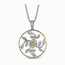 Simon G. 18k Two Tone Gold Diamond Pendant - MP1000
