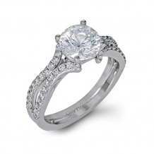 Simon G. 18k White Gold Diamond Engagement Ring - DR351