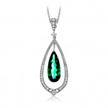 Simon G. 18k White Gold Diamond Pendant - MP1914