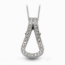Simon G. 18k White Gold Diamond Pendant - NP174