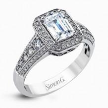 Simon G. 18k White Gold Diamond Engagement Ring - MR2385
