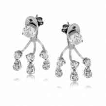 Simon G. 18k White Gold Diamond Earrings - LE2114