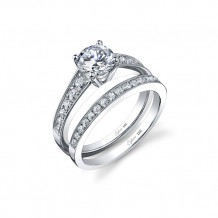 0.35tw Semi-Mount Engagement Ring With 1ct Round Head - sy708 rd