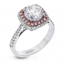 Simon G. 18k White Gold Diamond Engagement Ring - MR2827