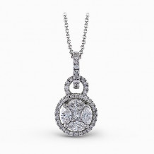 Simon G. 18k White Gold Diamond Pendant - MP1507
