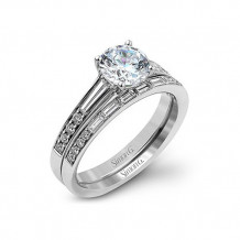 Simon G. 18k White Gold Diamond Engagement Ring - MR2220-W