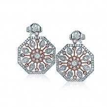 Simon G. 18k Two Tone Gold Diamond Earrings - DE257