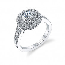 0.95tw Semi-Mount Engagement Ring With 1ct Round Head - s1119