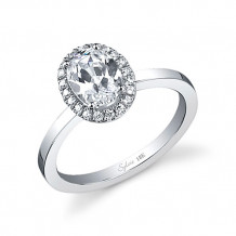 0.17tw Semi-Mount Engagement Ring With 1.25ct Oval Head - sy293 ov