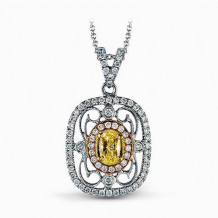 Simon G. 18k White Gold Diamond Pendant - TP201