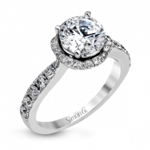 Simon G. 18k White Gold Diamond Engagement Ring - DR325