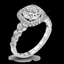 Simon G. 18k White Gold Diamond Engagement Ring - MR2477