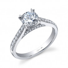 0.30tw Semi-Mount Engagement Ring With 1ct Round Head - sy808