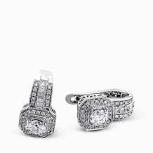 Simon G. 18k White Gold Diamond Earrings - NE177