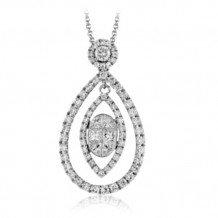 Simon G. 18k White Gold Diamond Pendant - PP156