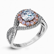 Simon G. 18k White Gold Diamond Engagement Ring - MR2496