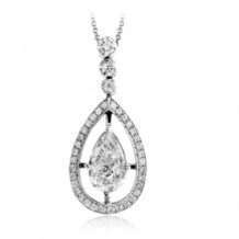 Simon G. 18k White Gold Diamond Pendant - PP151