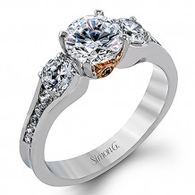 Simon G. 18k White Gold Engagement Ring - MR2287