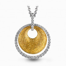 Simon G. 18k Two Tone Gold Diamond Pendant - MP1523-A