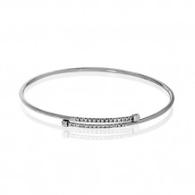 Simon G. 18k White Gold Diamond Bangle Bracelet - LB2016