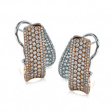 Simon G. 18k Two Tone Gold Diamond Earrings - ME1755