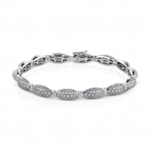 Simon G. 18k White Gold Diamond Bracelet - MB1483