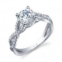 0.26tw Semi-Mount Engagement Ring With 1ct Round Head - sy888