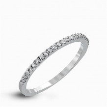 Simon G. 18k White Gold Diamond Wedding Band - TR585