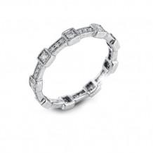Simon G. 18k White Gold Diamond Ring - MR1984