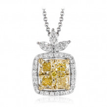 Simon G. 18k White Gold Diamond Pendant - MP1836