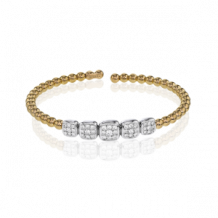 Simon G. 18k Two-Tone Gold Diamond Bangle Bracelet - LB2098