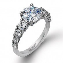 Simon G. 18k White Gold Engagement Ring - TR394