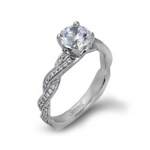 Simon G. 18k White Gold Diamond Engagement Ring - MR1498