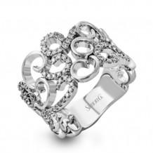 Simon G. 18k White Gold Diamond Ring - MR2640