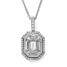 Simon G. 18k White Gold Diamond Pendant - TP159