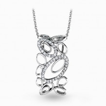 Simon G. 18k White Gold Diamond Pendant - MP1742