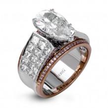 Simon G. 18k White Gold Diamond Engagement Ring - MR2141