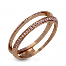 Simon G. 18k Rose Gold Diamond Wedding Band - MR2713