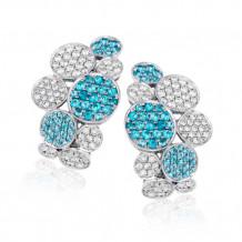 Simon G. 18k White Gold Diamond and Tourmaline Earrings - LE2210-A