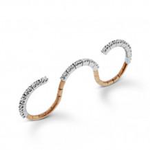Simon G. 18k Two-Tone Gold Diamond Right Hand Ring - LR1033