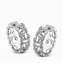 Simon G. 18k White Gold Diamond Earrings - LP2281
