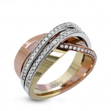 Simon G. 18k Two Tone Gold Diamond Ring - MR2672