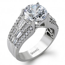 Simon G. 18k White Gold Diamond Engagement Ring - MR2064